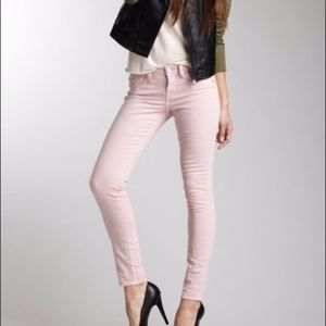 LOFT MODERN SKINNY ANKLE JEANS WITH ZIPPERS
